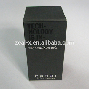 Rectangle Matte-black Folded Boxes For High-Tech Products ,Electronics Products Packaging