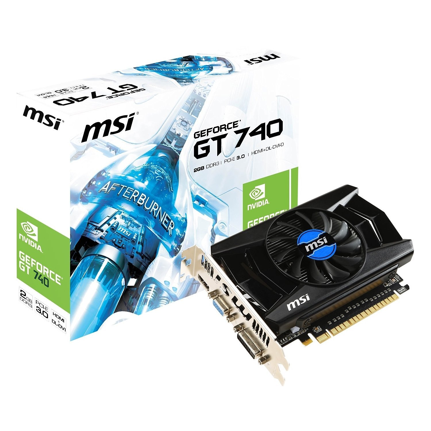 MSI N740-2GD3 - GeForce GT 740 2GB DDR3 PCI Express x16 3.0 Dual-link DVI-D/HDMI/D-Sub Video Card