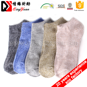socks factory Plain Cotton Unisex Sport Socks Grey ankle socks