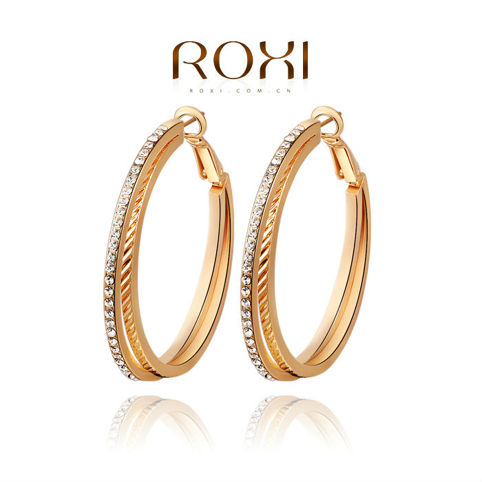 Roxi Cheap Rose Gold Dangle Hoop Earrings For Gilrs Wholesale ...
