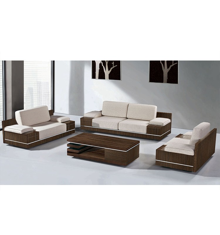 Wooden Sofa Set Designs: Modern Fabric Wooden Sofa Set Designs Cover
