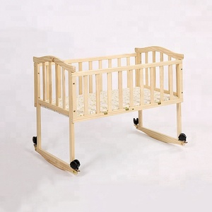 120*60cm customized wooden nursery baby bedside cribs/cot bed