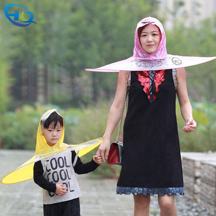 c7fcf5d945d Folding PVC Rain Hat UFO Shaped Rain gear Rain Hats
