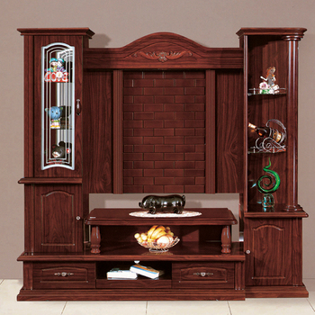 Latest European Designs Tv Stand 834 Tv Cabinet With Display Shelf Simple  Wooden Furniture Wall Units