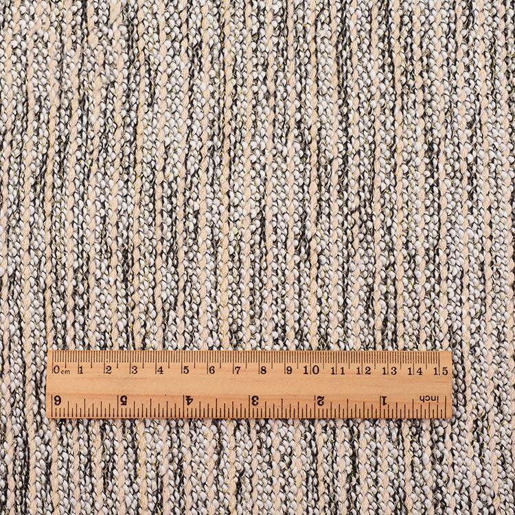 2019 hot selling alibaba supplier custom logo elegant knitted gold metallic fabric