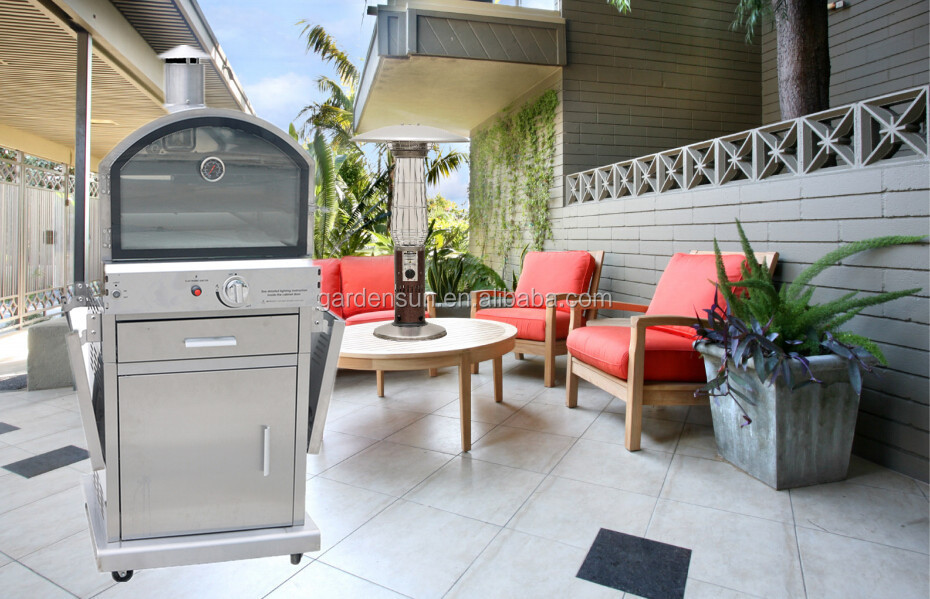 Pizza Oven Tuin : Outdoor tuin gas pizza oven dpoa gardensun 16 000btu met ce csa