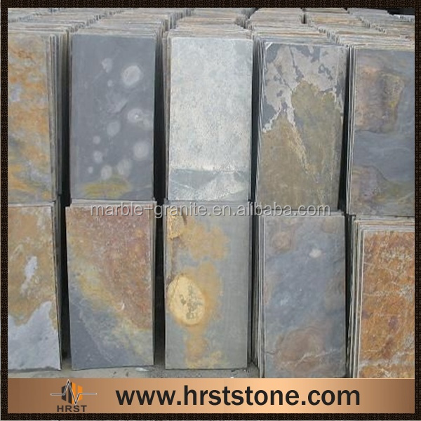 Natural cultured stone slate flat roof tiles