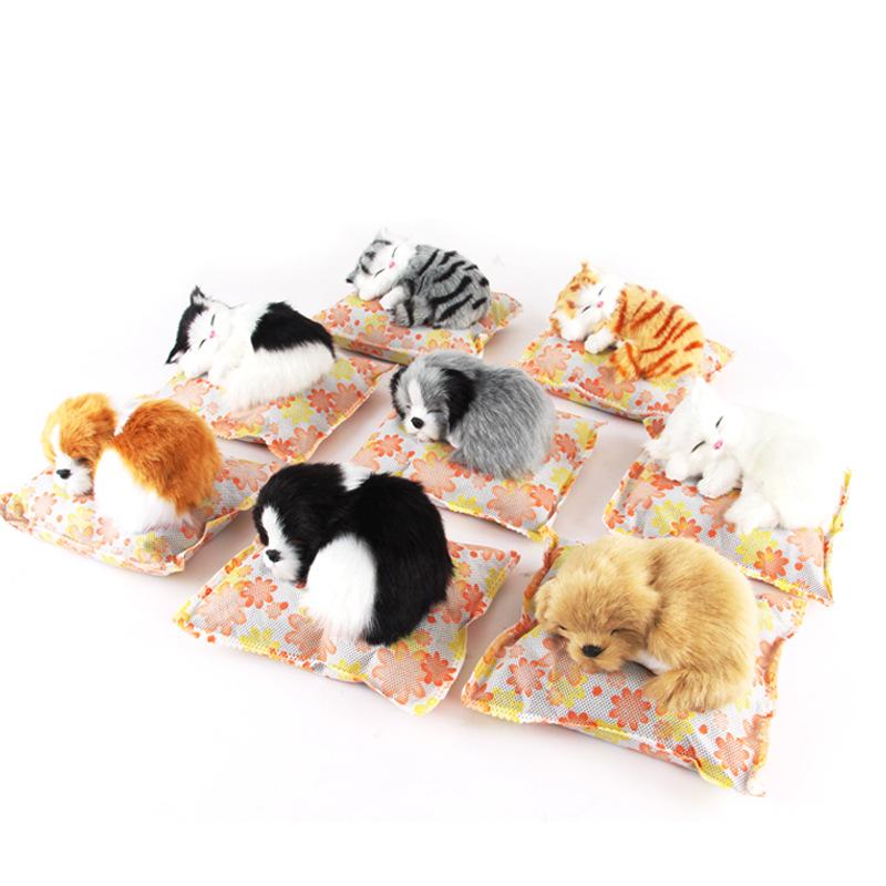 Cute Pug Dog Brand Logo Company:  Cute Simulation Sleeping Dog Toy Polyethylene & Furs Black