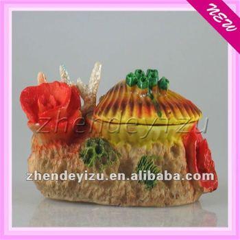 Aquairum Polyresin Product,Resin Cowry Decoration