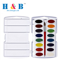Professional 16color artist watercolor paint set