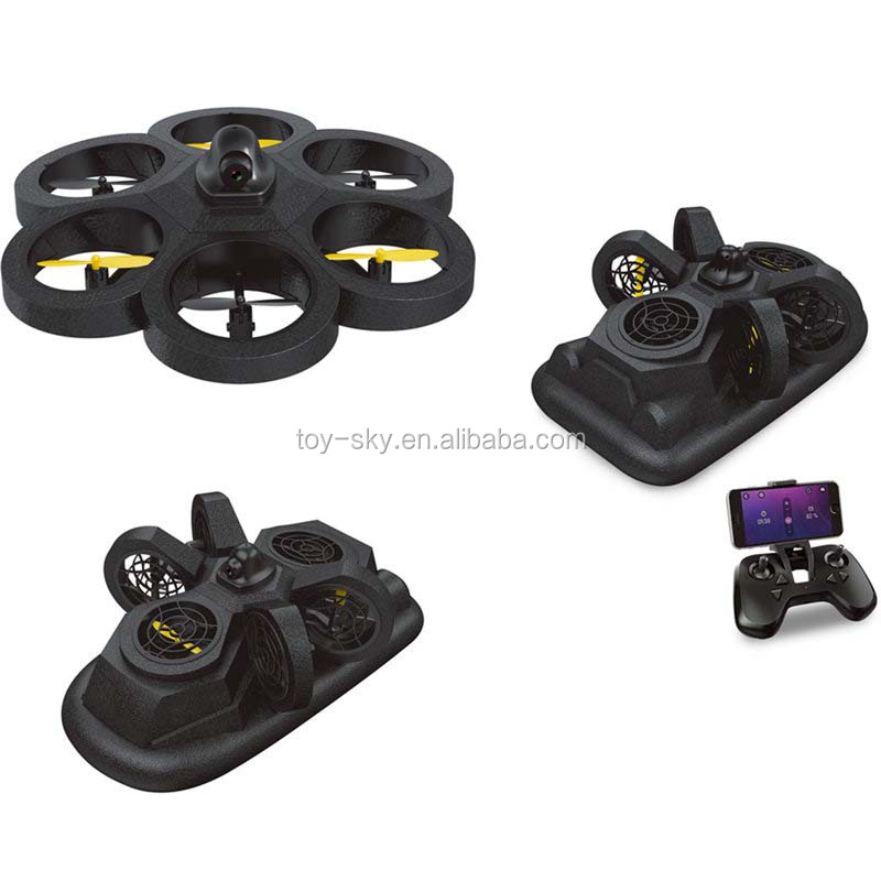 NH-012 6 Axis Gyro RC Quadcopter Drone Wifi FPV Support Land Sea Air Free Combined