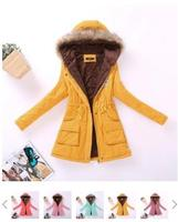 Winter Women Jacket Long Down Jacket Padded Coat Ladies Slim Hooded Parka New