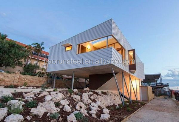 Seychelles prefab light steel structure house/villa with best price