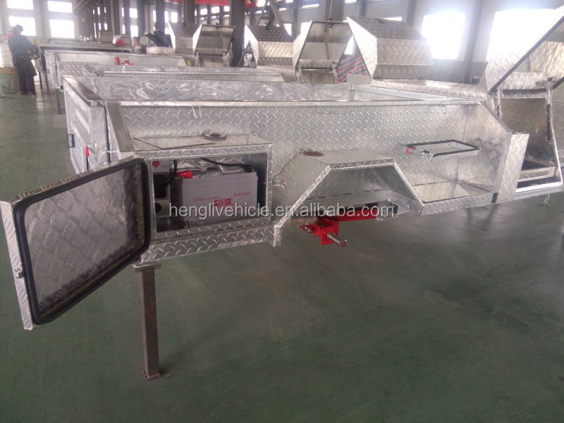 Rongcheng longhe Au standard soft floor hot dipped galvanized camper trailers