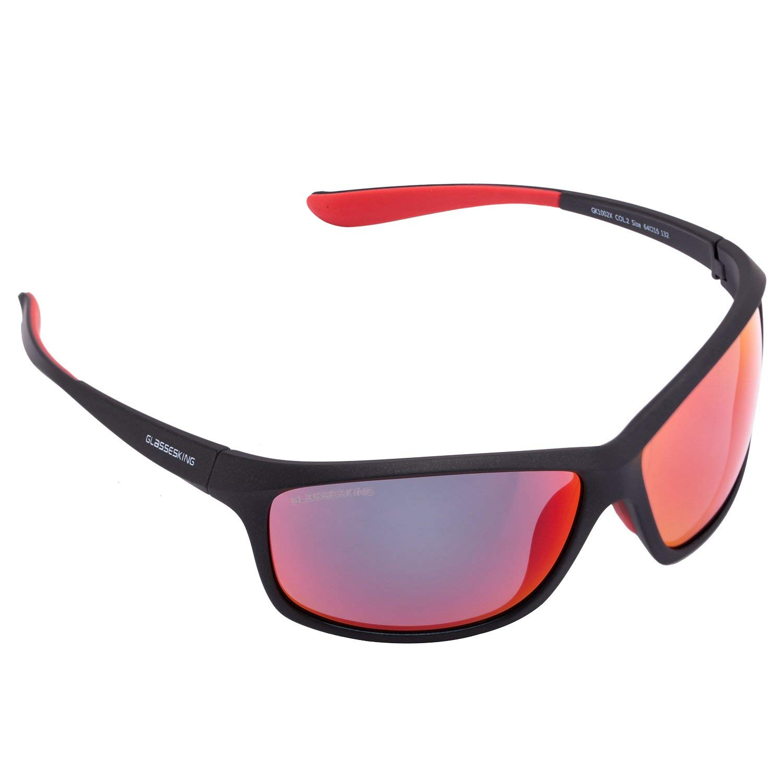 1a5c35c8d06 Get Quotations · GLASSESKING Sports Sunglasses for men women Baseball  Running Cycling Fishing Golf Tr90 frame 100% UV