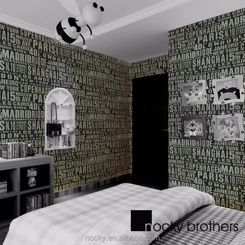 Contemporary And Contracted Wallpaper Pure Color Waterproof English ...