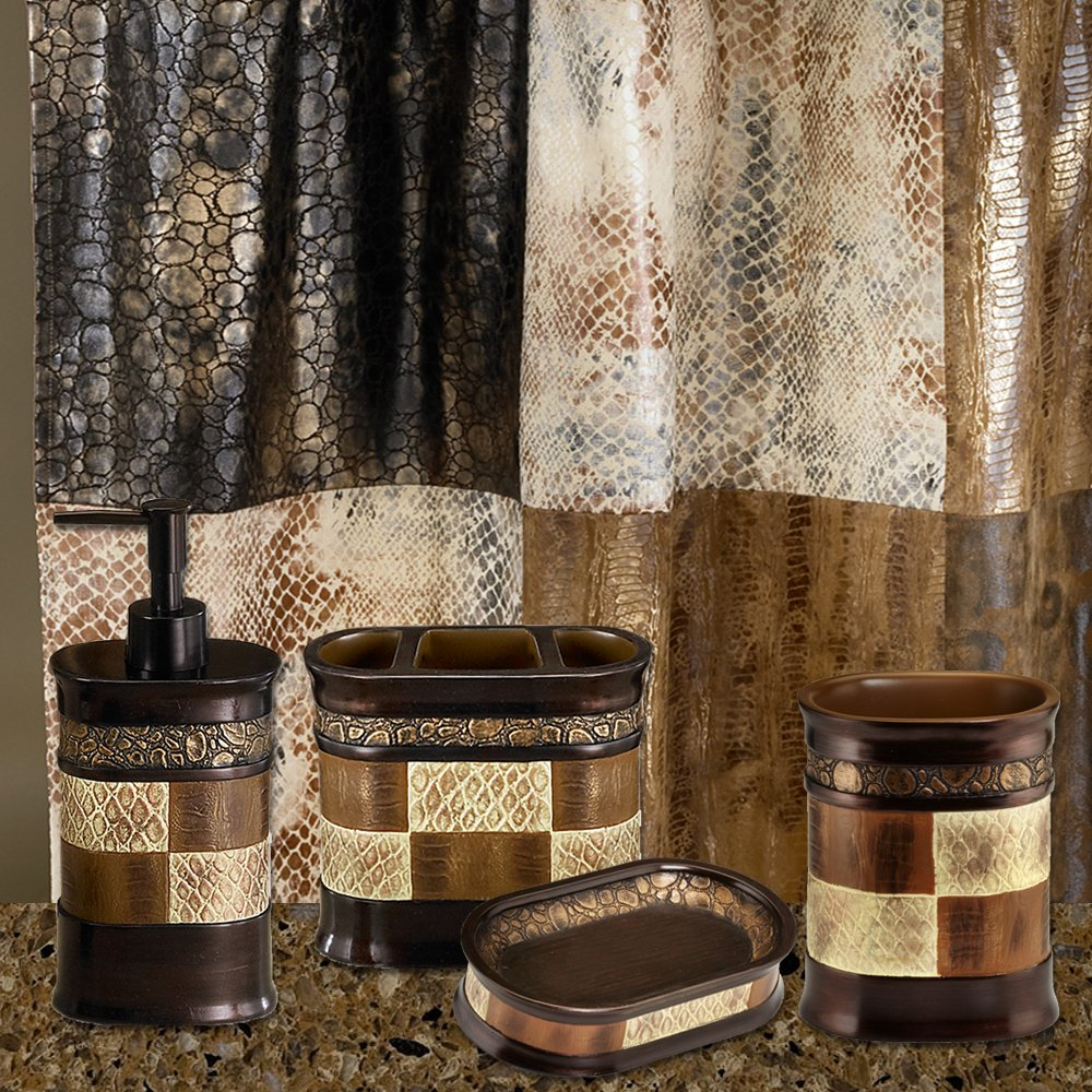 Get Quotations Sweet Home Collection 5 Piece Bathroom Accessory Set Zambia Copper