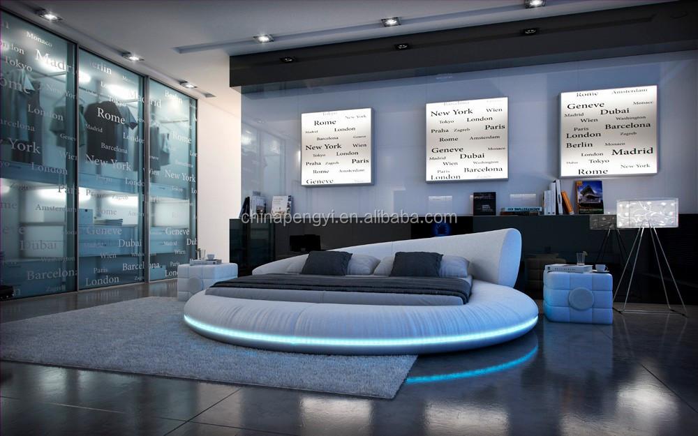 Led verlichting slaapkamer meubels kingsize ronde bed buy ronde