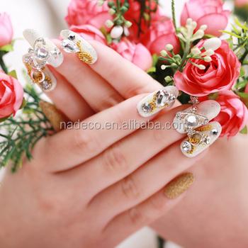 Nadeco 3d Bling Bling Crystal Nail Artrhinestone Diamond False Nail
