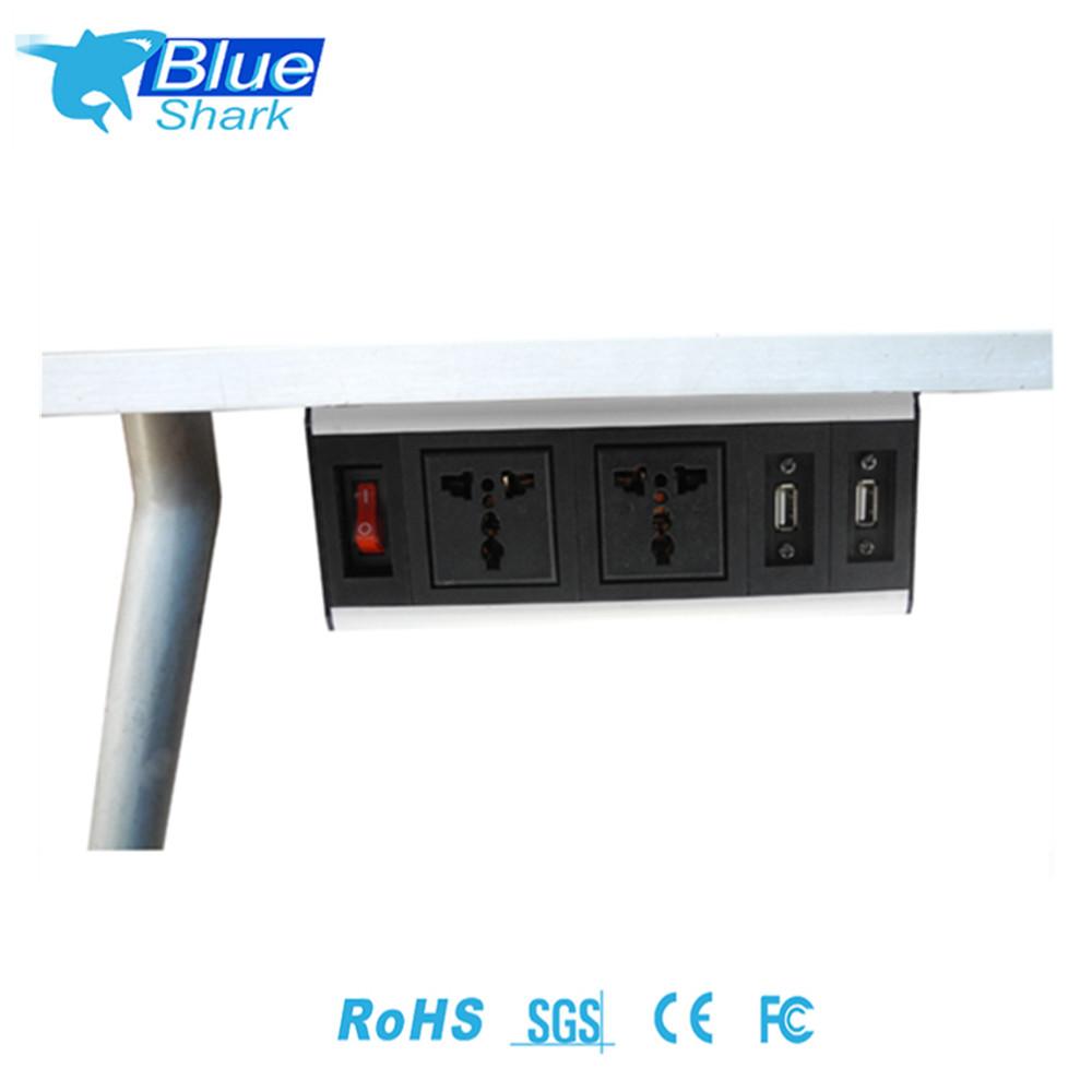 Universal Mounted Desk Power Socket Under Desk Cable Management Electric Tabletop Socket Buy Power Socket Desk Mounted Recessed Socket