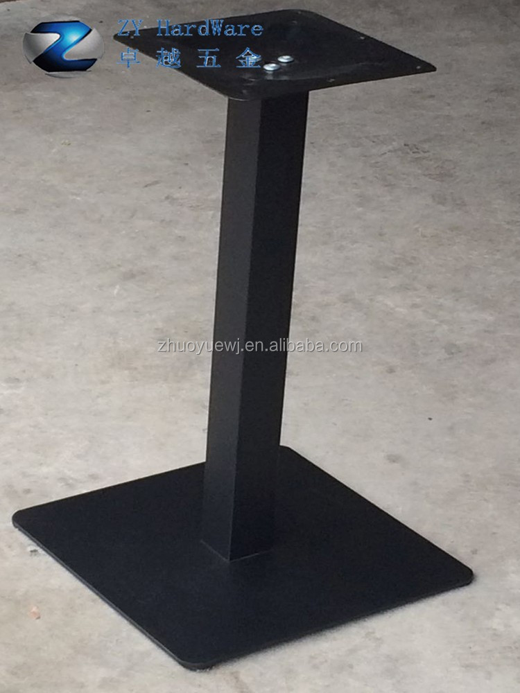 Square Black Metal Iron Table Base Table Legs For Dining Table ...