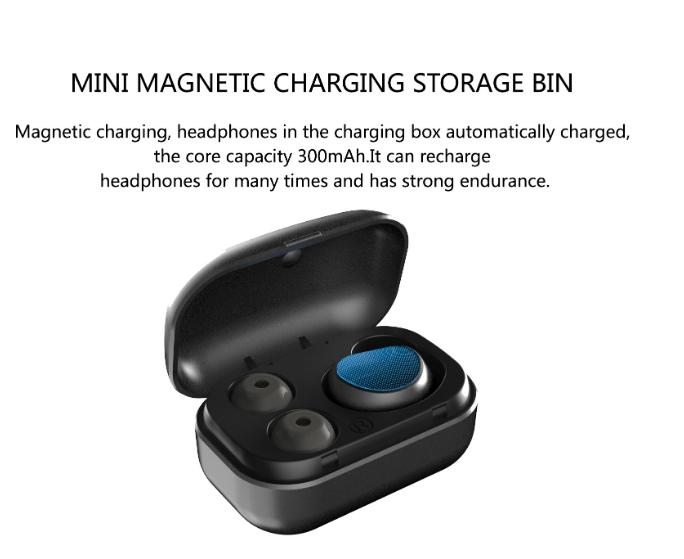 High quality ear headphones waterproof earphone wireless mini earphone in black