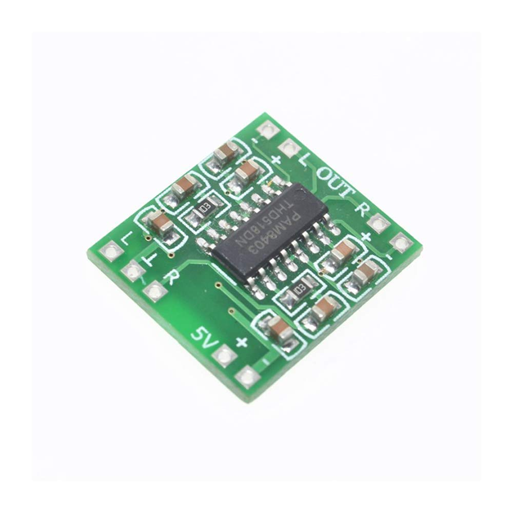 HUIMAI 5PCS/LOT PAM8403 Super mini digital power amplifier board miniature class D power amplifier board 2 3 w high 2.5-5 v USB