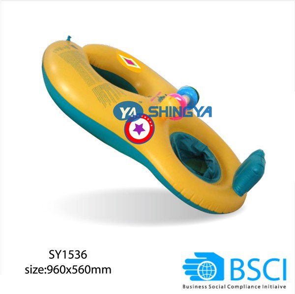 Inflatable twin baby double swim float seat