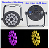 2016 professional no fan flat slim 18*12W RGBWA 5in1 led par light