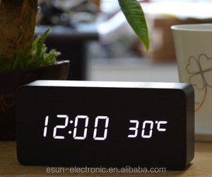 Wholesale Suppliers Cheap wood wooden clocks, Desktop table Alarm Clock ,LED clocks online shop selling clock wooden watch