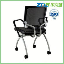 ZNS 806-01 fashinal folding seat Modern Design Visitor Chair With Wood Armrest