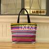 Colorful beach tote bag oem production canvas tote bag cotton tote bag