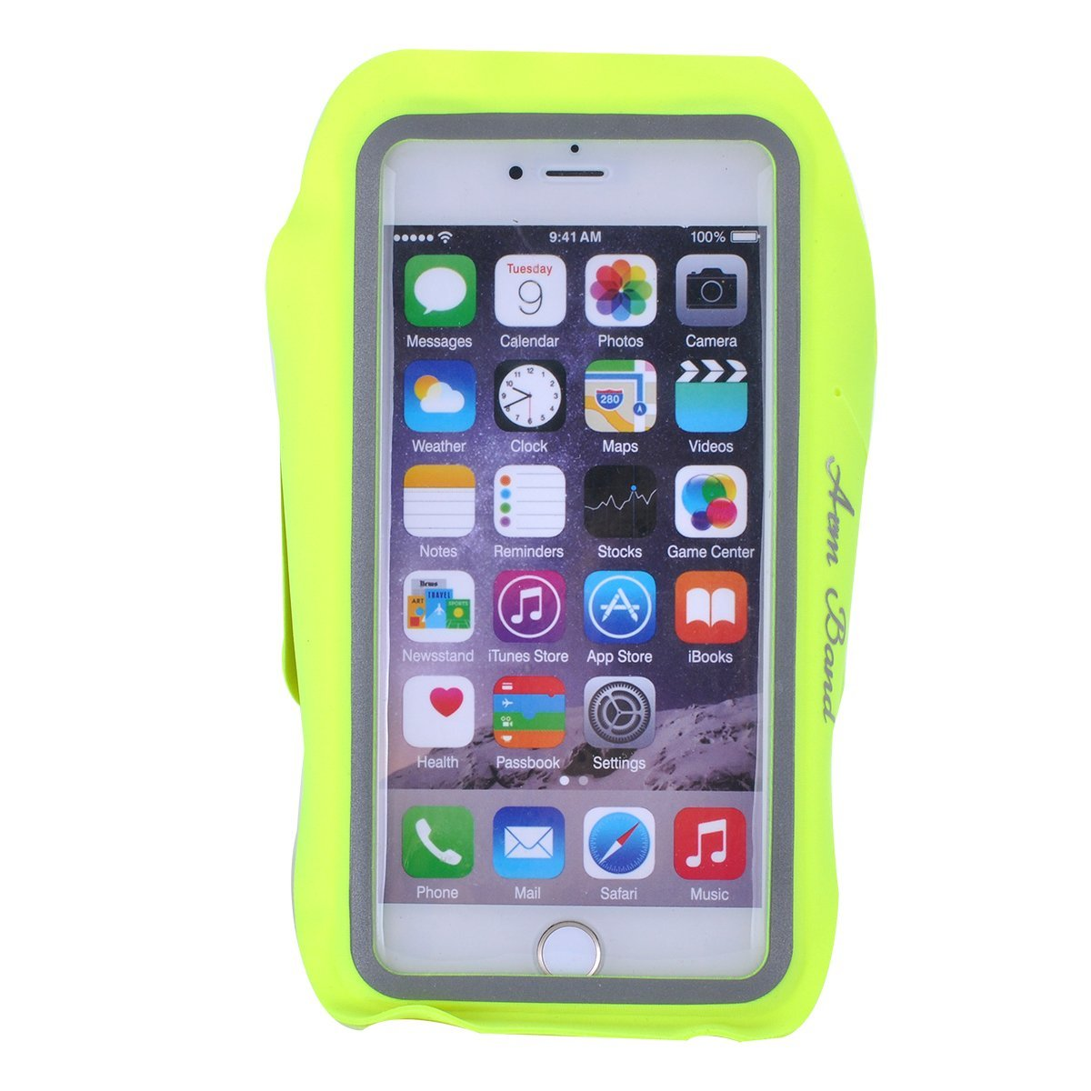 Trenztek World's Thinnest & Lightest Sweatproof Sports Armband Case Running Armband with Key Holder for iPhone 7 iPhone 7 Plus & Google Pixel XL iPhone 6 Plus S7 Edge etc (Green)
