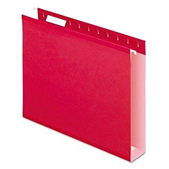PFX4152X2RED - Pendaflex Colored Box Bottom Hanging Folder