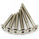 Made In China Fast Delivery High Quality Stainless Steel 316 M6*15 Flat Head Hex Socket Bolt