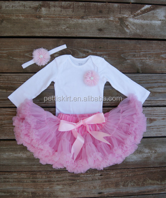 Venta caliente cumpleaños Rosa tutu niñas bebé de 1 año vestido de  cumpleaños ae373aa953b2