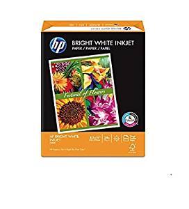 HP Bright White Inkjet Paper, 8 1/2 x 11, 500 Sheets/Box (HEW203000)