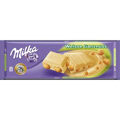 MILKA 300g Wholenut White Chocolate