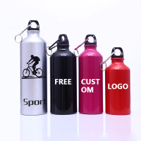 Metal Aluminum Bike Sports Water Bottle Personalized Water Bottles with Custom logo