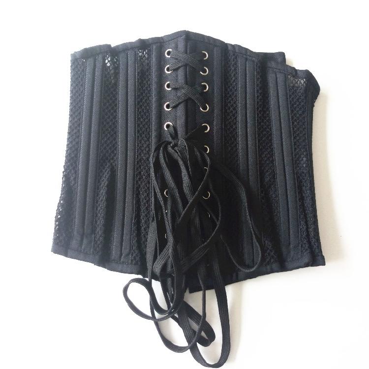 New Arrival black color women mesh corset cheap price