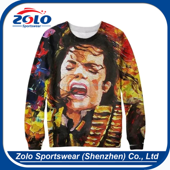 Custom european style fully crew neck dye sublimation hoodies