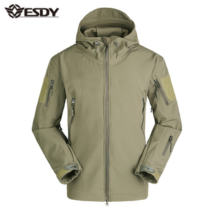 ESDY 23 Colors Hoodie Army Uniform Tactical Soft Shell Jacket Military Hunting Jacket