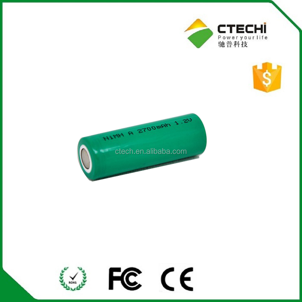 1.2v replacement 2700mah nimh AA 14505 rechargeable battery