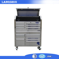 stainless steel glide tool boxes hand tool chest cabinets rolling tool trolley