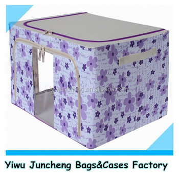 floral large decorative storage boxes with clothing bins for sale
