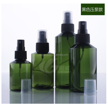 Custom Cosmetic Cheap 4oz plastic mist spray package bottles with top pump cap