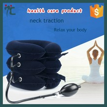Hot Inflatable Neck Traction Collar Pain Relief Cervical Traction Pillow Device