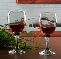 Elegant Party Drinking Glassware, Classic Crystal Clear Wine Glass, Lead-Free Red Wine Goblet