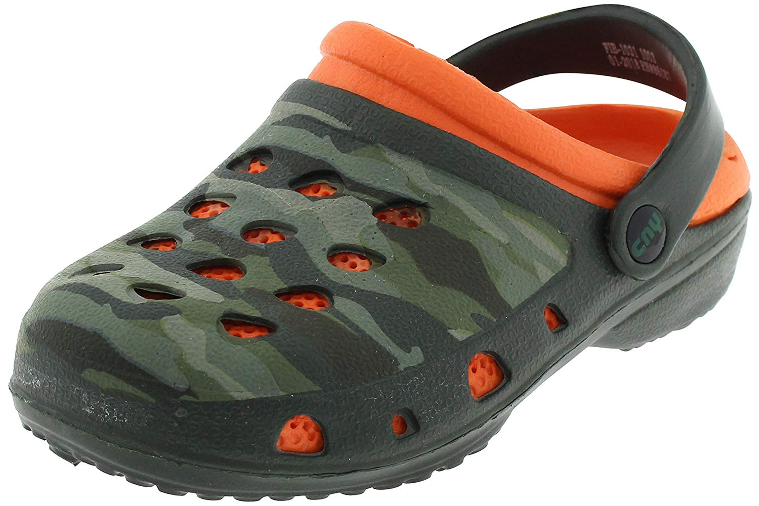 Capelli New York Boys Camo Printed Two Tone Clogs With Backstrap