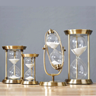 Brass Unique Wholesale Decorative Glass Big Souvenir Antique Souvenir Custom Hourglass Sand Timer